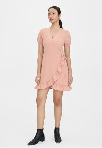 Pomelo pink Frill Hem Wrap Dress - Pink 23157AA307D49AGS_1
