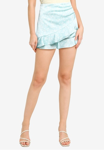 Supre blue Celia Mini Frill Skirt B7766AA9990312GS_1