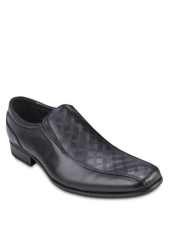 esprit outlet台北格紋拼接商務皮鞋, 鞋, 鞋