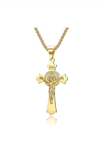 HAPPY FRIDAYS Jesus Cross INRI Necklace JW QF-DZ355 EFE94ACC1320ABGS_1