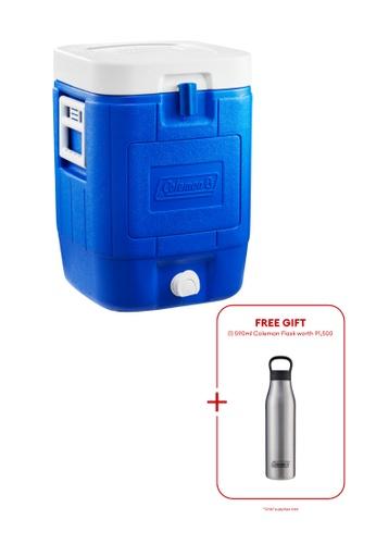 Coleman blue 5 Gallon Cube Beverage Cooler 6CEF3HL4C5CB73GS_1