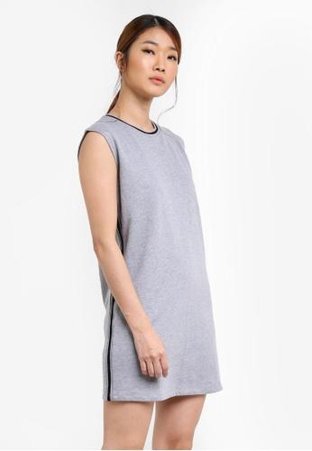 Something Borrowed grey Striped Rib Tank Dress DDFFAAA19EDF1DGS_1