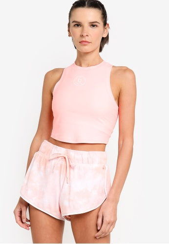 Lorna Jane pink Athletic Active Cropped Tank Top AD6BBAA17BE9E5GS_1