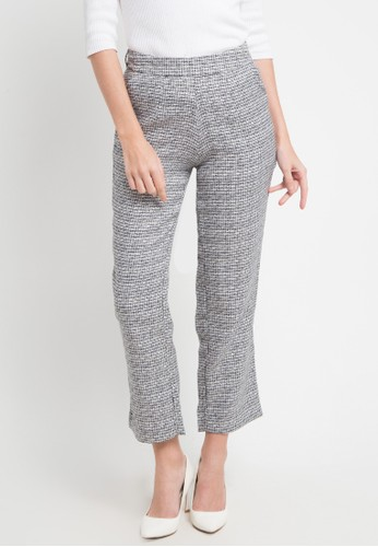 SIMPLICITY black and multi Textured Long Pants 3D37AAACD7E264GS_1