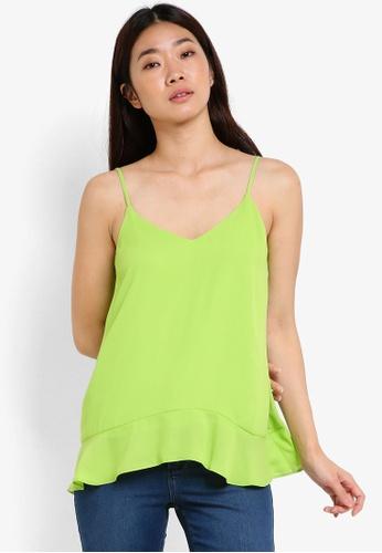 Dorothy Perkins green Lime Ruffle Hem Cami DO816AA61SSGMY_1