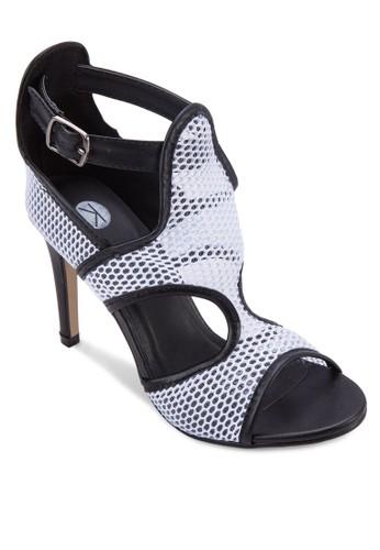 Minx 撞色網esprit官網眼鏤空細跟涼鞋, 女鞋, 鞋