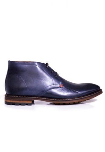 Gino Mariani navy Gino Mariani Men's Leather Shoes FRANCO - NAVY B41D8SH46291B6GS_1