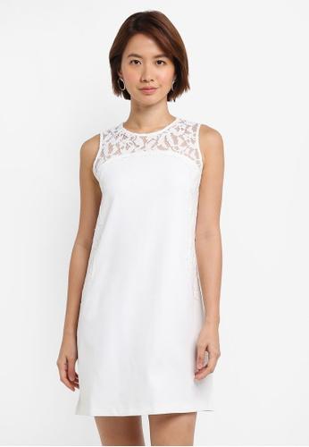 ZALORA white Lace Tunic Dress 25DB5AA78A233FGS_1