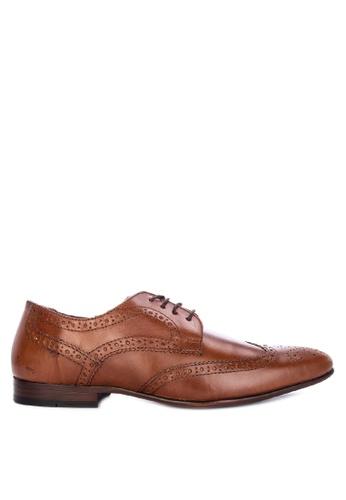 Topman brown Tan Leather Rocky Brogues E9F22SH3546516GS_1