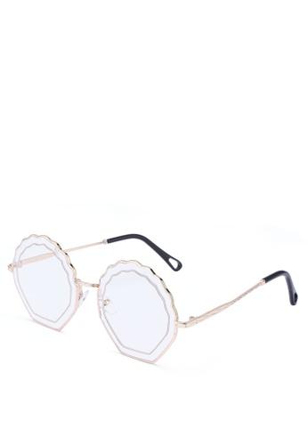 Milliot & Co. white Wilona Irregular Glasses A92A1GL0D14121GS_1