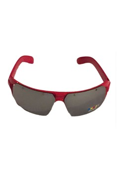 Kids Sunglasses HG Panoramic Collection Red w/free High Quality case, Lens cleaning cloth & C-thru box.