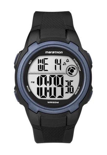 TIMEX black Timex Marathon® - Digital Full-Size Black Resin Strap Watch TI857AC28CQDSG_1