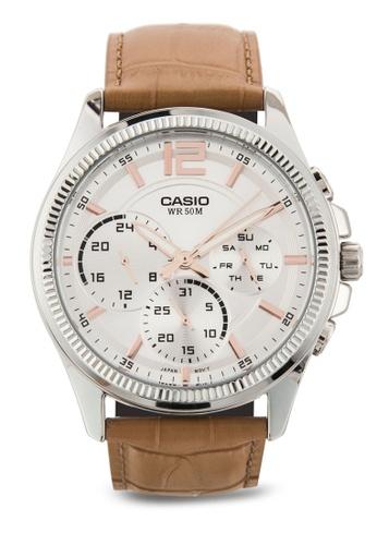 Casio brown Casio Enticer Analog White Dial Men's Watch - MTP-E305L-7A2VDF CA843AC43MHWMY_1
