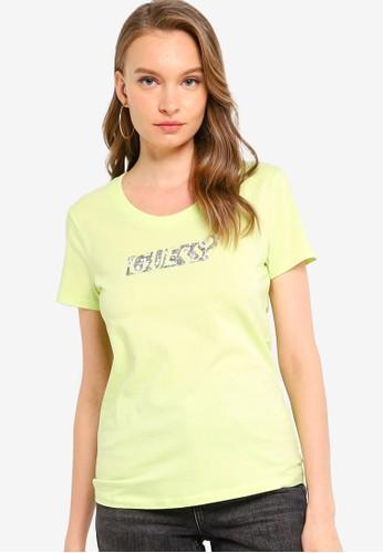 GUESS green Embelished Short-Sleeve Tee 78777AA14B0297GS_1