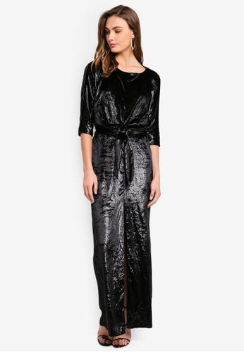River Island black Front Split Maxi Dress 89267AA37D0B76GS_1
