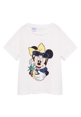 MANGO KIDS white Sequins Minnie Mouse T-Shirt 87A70KAC26AC75GS_1