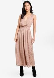 ZALORA pink Studio Maxi Dress with Wrapped Bodice 8D84EAA490E78AGS_1