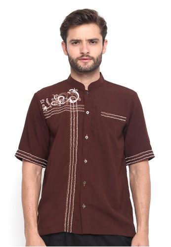 Java Seven Muslimwear brown Jafran FCB51AAAAF52C9GS_1