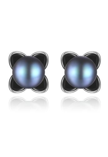 A.Excellence black Premium Black Pearl Elegant Earring E8C48AC5BEC274GS_1