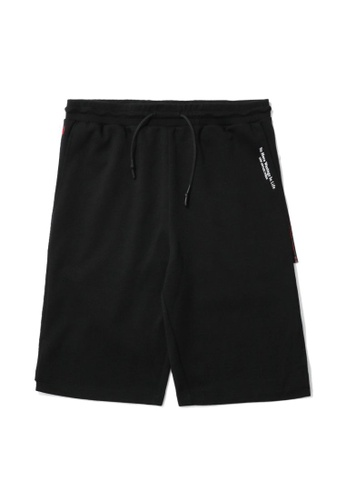 izzue black Side zip detail sweat shorts A3BB4AAE25F64BGS_1
