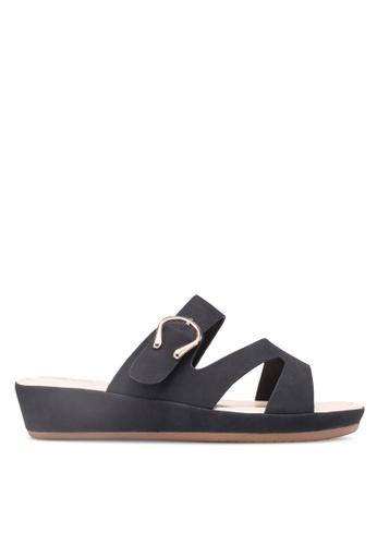 Bata 黑色 仿皮金屬釦涼鞋 6F6FESHBC10F99GS_1