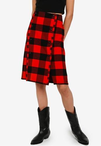 SCOTCH & SODA 多色 格紋裙 96B97AA818CE6CGS_1