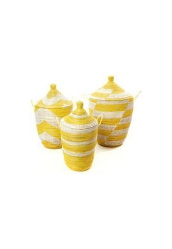 Living DNA Gourd Hamper Basket - S Yellow 357AFHL1BC5887GS_1