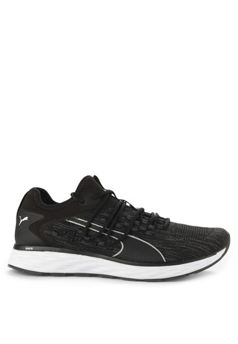 Puma black and multi Speed Fusefit Shoes 68945SH53C828AGS_1