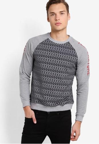Marc & Giselle grey Long Sleeve Sweater MA188AA28GILMY_1
