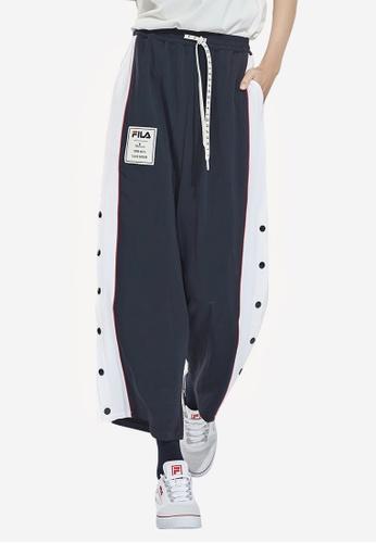 FILA navy FILA × Maison MIHARA YASUHIRO Side Striped Wide-Legged Popper Pants 14925AA70AD30AGS_1