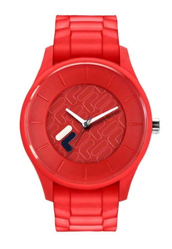 FILA Watches red Fila Red Silicone Watch 5556DAC03417D7GS_1