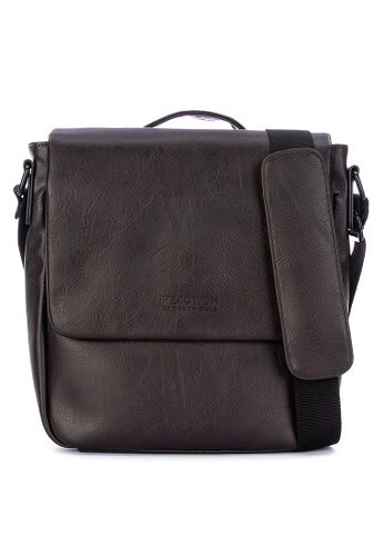 55f75acd1 Kenneth Cole brown Distressed Faux Leather Single Compartment Flapover  Tablet Bag (Techni-Cole RFID