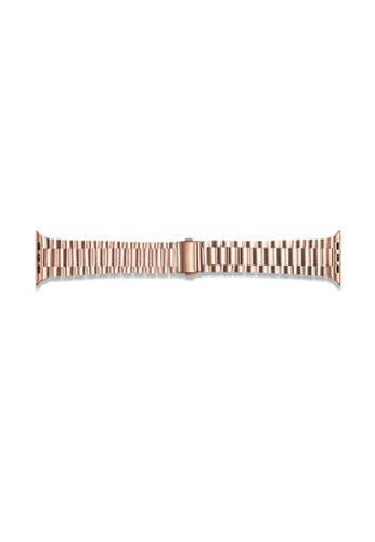Kings Collection Rose Gold Stainless Steel Apple Watch Band 38MM/40MM (KCWATCH1015) C4D12AC7C7D492GS_1