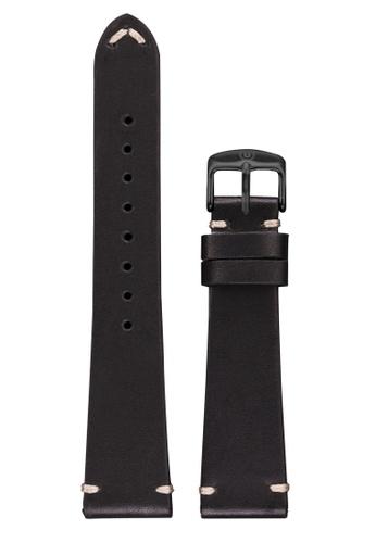 Undone black Undone Black Calf Leather Strap 20mm (Black Buckle) UN712AC2VEKDHK_1