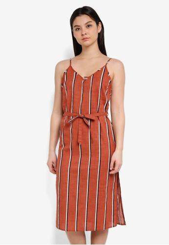 Cotton On brown and multi Woven Marce Midi Slip Dress 676F5AA2208E2CGS_1