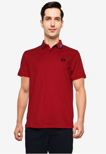 Fidelio 紅色 Lining Collar 基本Polo 襯衫 7C566AA9AF9181GS_1