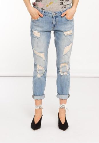 f8a33c17ae2dc5 SH by SILVIAN HEACH blue Low Waist Boyfriend Fit Jeans 41094AA0B09619GS 1