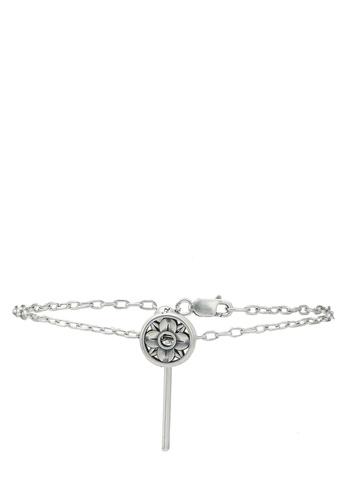 agnès b. silver Rue Dieu Fleur Bracelet 6946EACC9B0B22GS_1