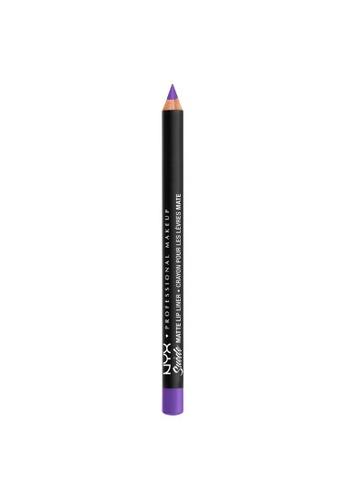 NYX Professional Makeup purple NYX Professional Makeup Suede Matte Lip Liner - SMLL 64  - CYBERPOP 9C009BE86E5E0FGS_1