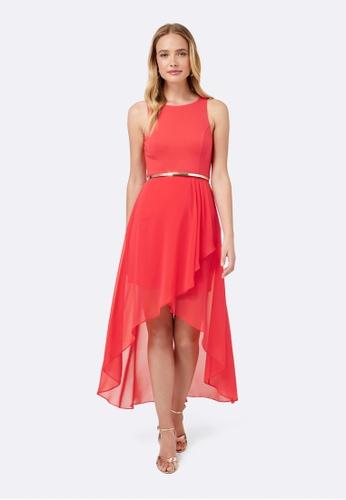 Forever New pink Danielle Hi-Lo Dress 615CBAAD6B3E1DGS_1