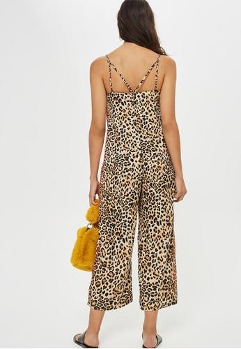 df463f2bedc2 Buy TOPSHOP Petite Leopard Print Jumpsuit Online on ZALORA Singapore
