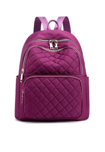 Twenty Eight Shoes purple VANSA Diamond Stitching Oxford Backpacks VBW-Bp6628 22A66ACDC43DF4GS_1