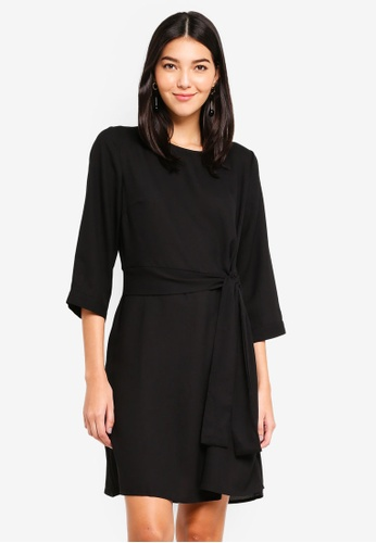 Pieces black Tilly 3/4 Dress A52FBAA0A6425FGS_1