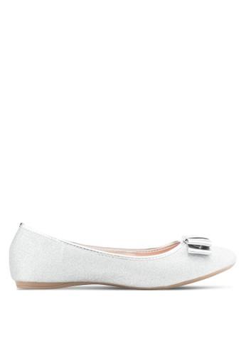 閃zalora 順豐面蝴蝶結平底鞋, 女鞋, 芭蕾平底鞋