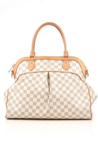 Louis Vuitton beige Preloved Cream Damier GM Trevi Bag 20705ACC82AB94GS_1