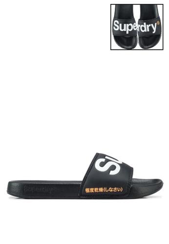 d112479803be Superdry black Superdry Pool Slides 259A1SHA50984EGS 1