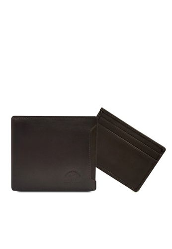 Santa Barbara Polo & Racquet brown Santa Barbara Polo & Racquet Club Leather Bifold Wallet with Additional Card Holders 35A81ACC992195GS_1