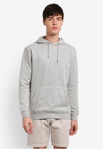 Topman grey Classic Hoodie TO413AA0RXU7MY_1
