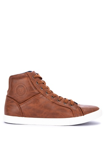H2Ocean brown Boswell Lace up Mid Cut Sneakers 105E3SH194AB06GS_1