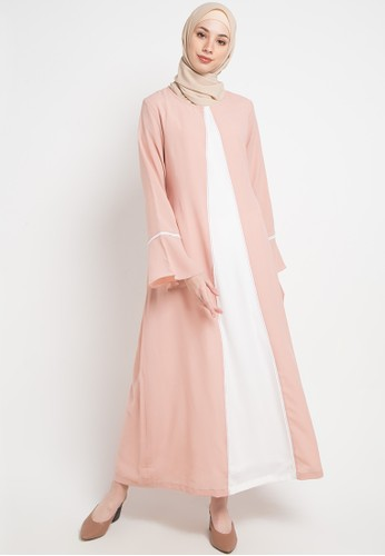 Aira Muslim Butik pink and multi Asyifaa Dress 69851AA919901AGS_1